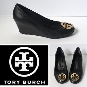 Tory Burch leather wedge shoes